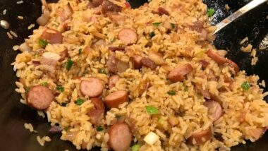 Delicious Hot Dog & Bacon Fried Rice In 17 minutes_5f78522e1cd58.jpeg