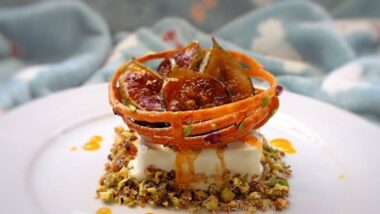 Recipe: Appetizing Ginger and Bay Leaf Ice Cream, Saffron Honey Jalebi, Nut Crumb and Grilled Fresh Figs_5f76f830e77f4.jpeg