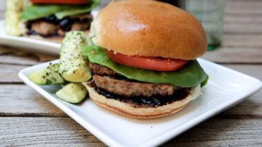 Recipe: Perfect Turkey Burgers with Balsamic-Fig Preserves and Roasted Parmesan Zucchini Sticks_5f78515ad53ac.jpeg
