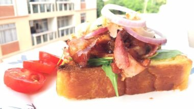 Tasty Bacon And Onion In BBQ Sauce Open Sandwich In 18 minutes_5f76f8a41a82a.jpeg