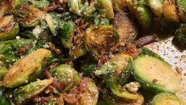 Yummy Bacon & Parmesan Brussels! In 16 minutes_5f78503595d76.jpeg